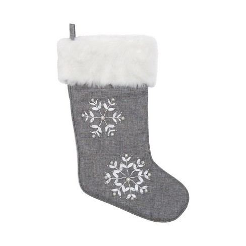 C&F Home Silver Snowflake Stocking - image 1 of 1