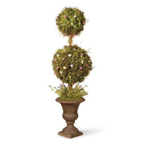 "Artificial Spring Topiary Tree Green 45"" - National Tree Company - image 1 of 1"
