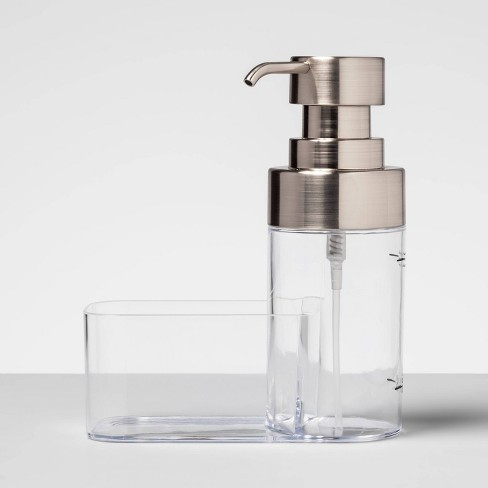 Plastic Soap Dispenser with Caddy Silver - Made By Design™