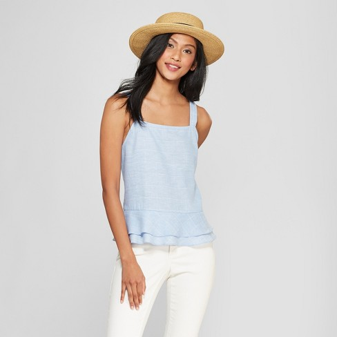 09479ef8a9aa38 Women's Packable Boater Hat - A New Day™ Beige : Target