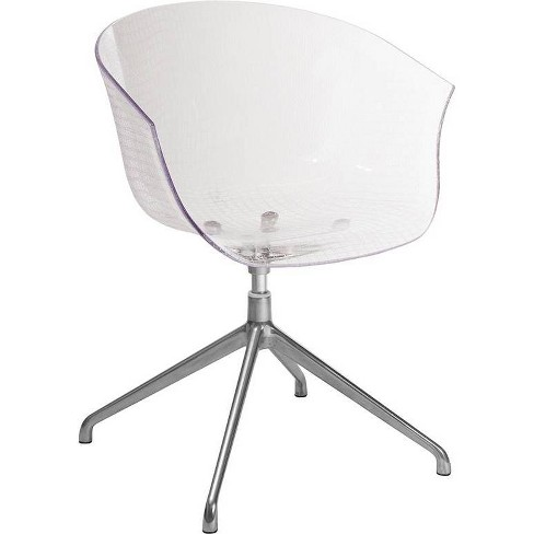 Contemporary Reception Chair Clear - Riverstone Furniture Collection - image 1 of 4