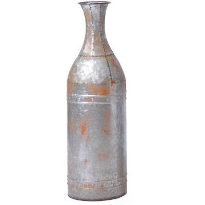 Vintiquewise Rustic Farmhouse Style Galvanized Metal Floor Vase Decoration