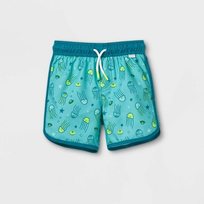 Toddler Boys' Octopus Print Swim Trunks - Cat & Jack™ Teal