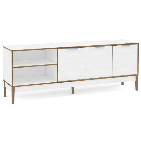 """66"""" Boston TV Stand White/Light Brown - Chique - image 1 of 4"""
