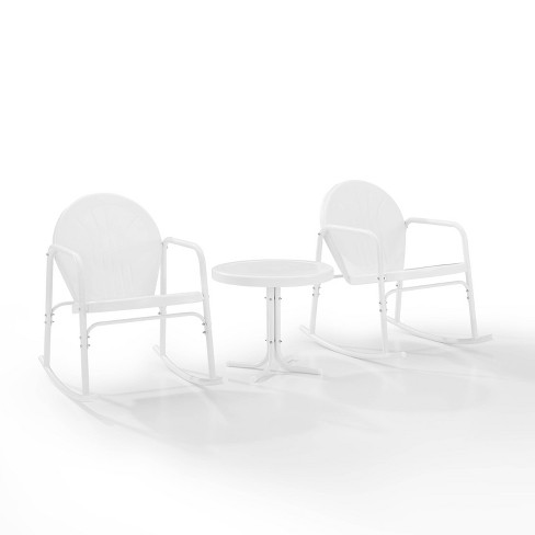 Griffith 3pc Outdoor Rocking Chair Set, Outdoor Rocking Chairs Set Of 2