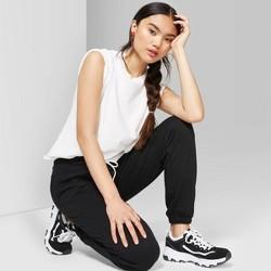 Women's High-Rise Vintage Jogger Sweatpants - Wild Fable™ Black