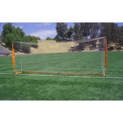 Bownet 6.6 Foot x 18.6 Foot Portable Youth Training Practice Soccer Goal, Orange