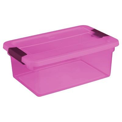 Sterilite® ClearView Storage Bin Tinted Purple 3.75gal