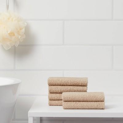 6pk Washcloth Tan - Room Essentials™