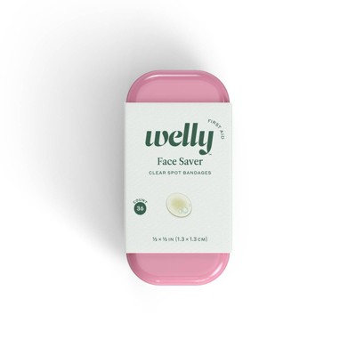 Welly Face Saver Clear Spot Bandages - 36ct