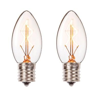Darice Set of 2 Cleveland Vintage Lighting Edison Style E17 Base Candlestick Bulbs