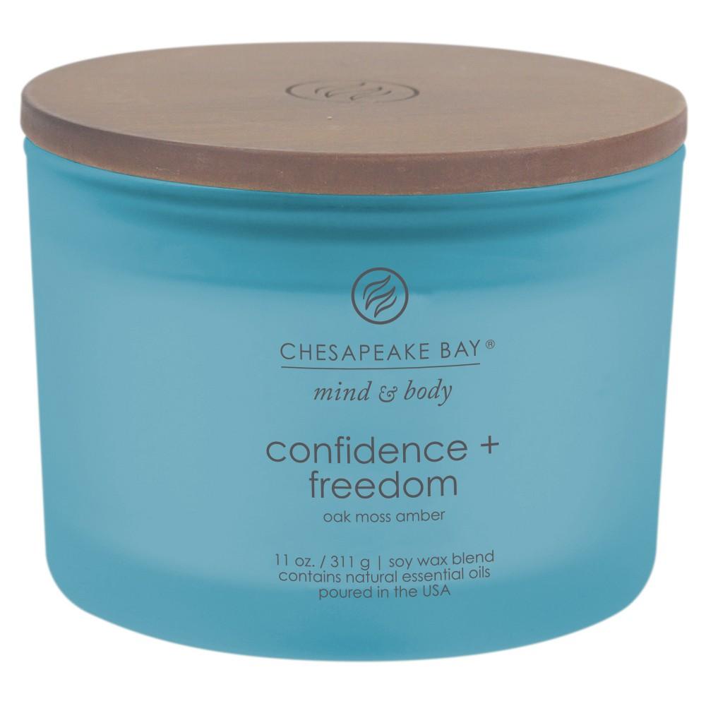 Image of Mind & Body 3-Wick Jar Dark Blue - 11oz - Chesapeake Bay Candle, Size: 11 oz