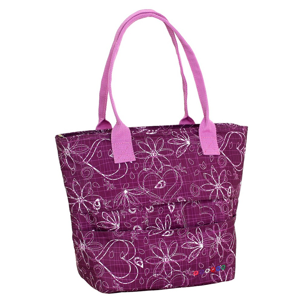 J World Lola Lunch Bag with Back Pocket - Love Purple
