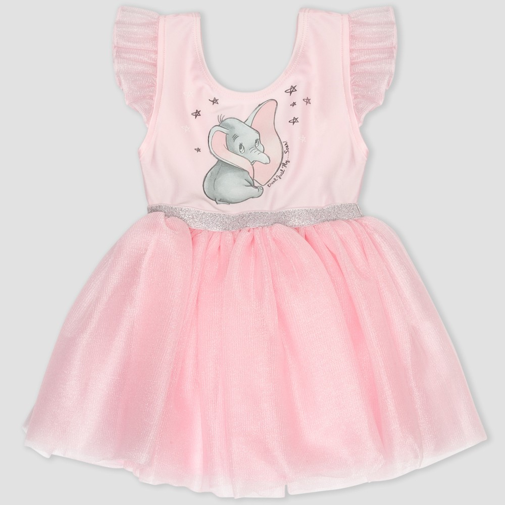 Toddler Girls' Disney Dumbo Tutu Dress - Pink 2T