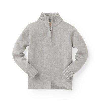 Hope & Henry Boys' Long Sleeve Half Zip Pullover Sweater, Infant