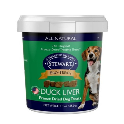 Stewart Freeze-Dried Duck Dog Treat - 3oz Tub
