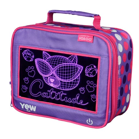 Yew Stuff Pop Lights Lunch Box - Catitude - image 1 of 16