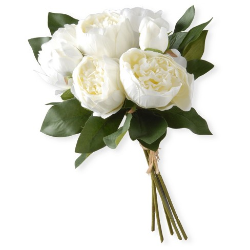 "12"" White Peony Bundle - National Tree Company - image 1 of 1"