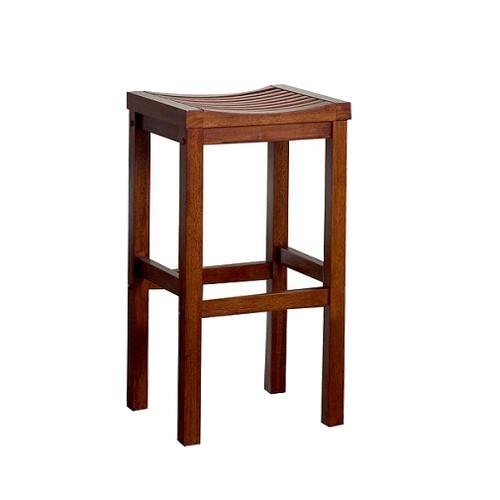 'Saddle Seat 29'' Barstool Hardwood/Oak- Home Styles, Brown'