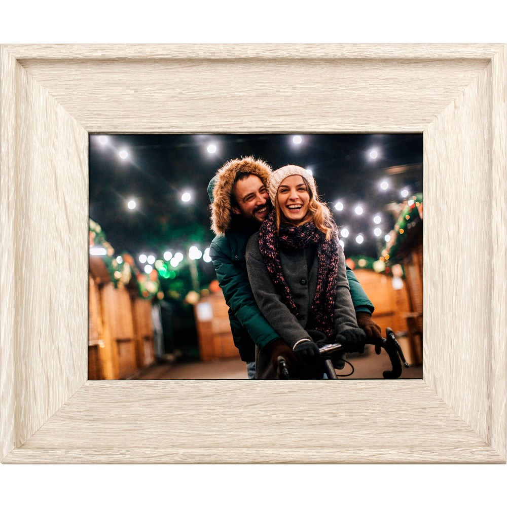 "Image of ""8"""" Digital Wood Frame Off-White - Polaroid, Beige"""