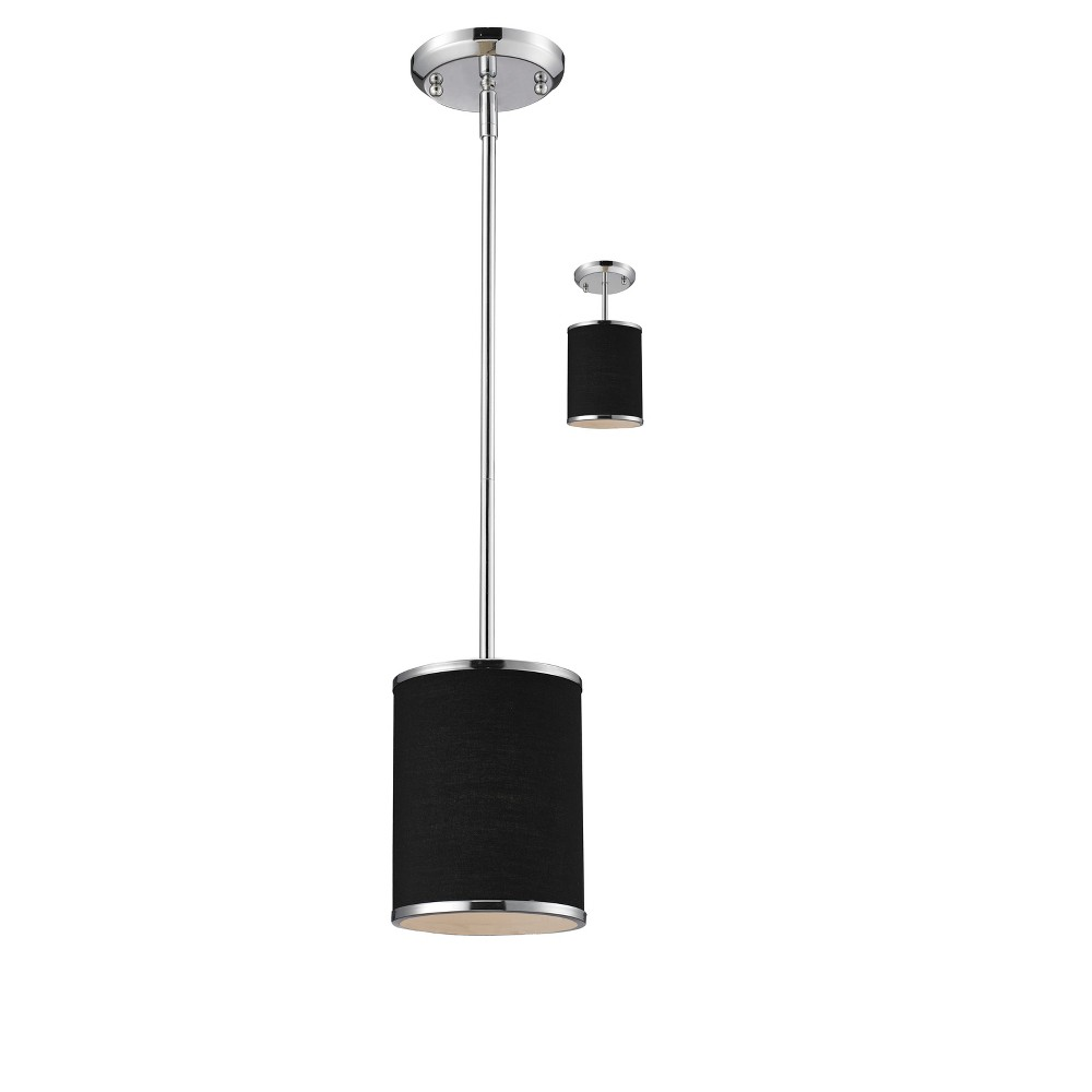 Convertible Pendant with Black Glass Ceiling Lights - Z-Lite