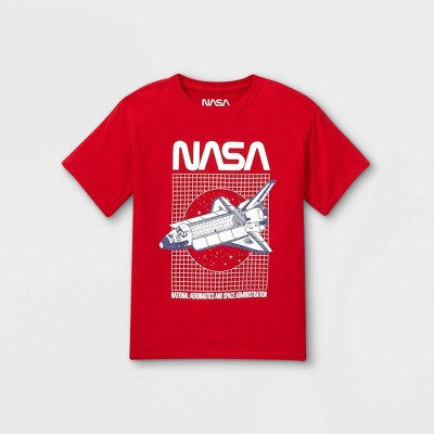 Boys' NASA Short Sleeve Graphic T-Shirt - Red