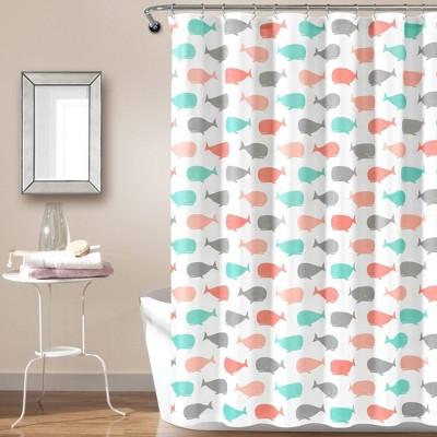 Whale Shower Curtain - Lush Décor