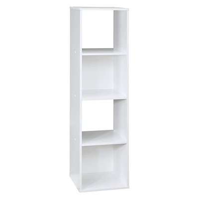 Closetmaid 102900 Decorative Home Stackable 4-Cube Cubeicals Organizer Storage in White with Hardware for Toys, Office, or Home