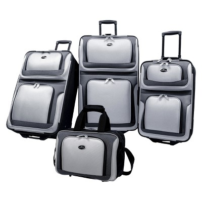 U.S. Traveler New Yorker 4pc Expandable Luggage Set - Gray