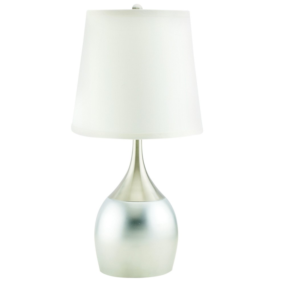 Image of 23.5 Metal Table Touch Lamp - Silver - Home Source
