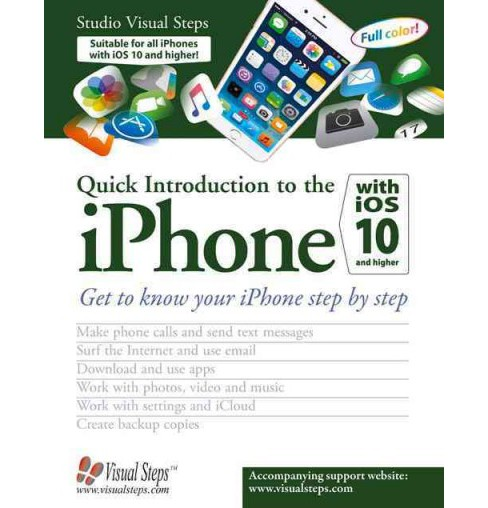 Quick Introduction to the Iphone With Ios 10 and Higher (Paperback) - image 1 of 1