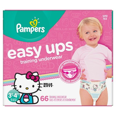 Pampers Easy Ups Girls Training Pants Super Pack - Size 3T/4T (66ct)