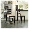 Set of 2 Kensington Ladder Back Chair Wood/Black - Inspire Q - image 3 of 3