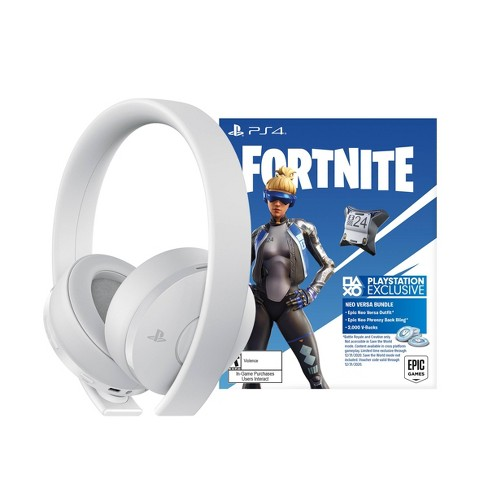 PlayStation 4 Gold Wireless Gaming Headset: Fortnite Bundle - White - image 1 of 3