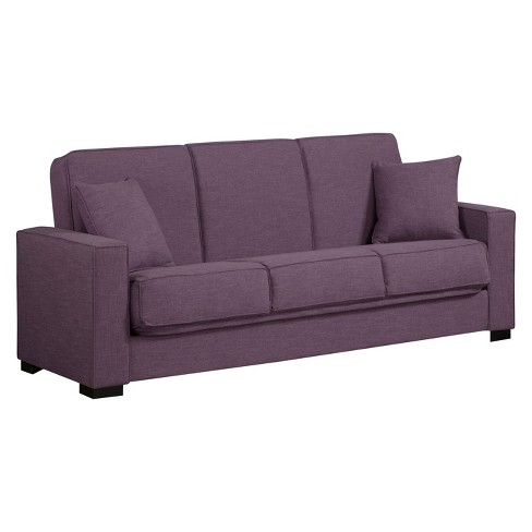 Malibu Convert-a-Couch Purple Linen - ProLounger - image 1 of 3