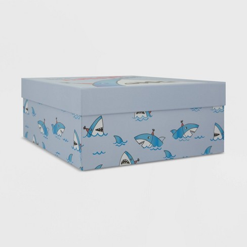 Shark Print Container Gift Box - Spritz™ - image 1 of 3