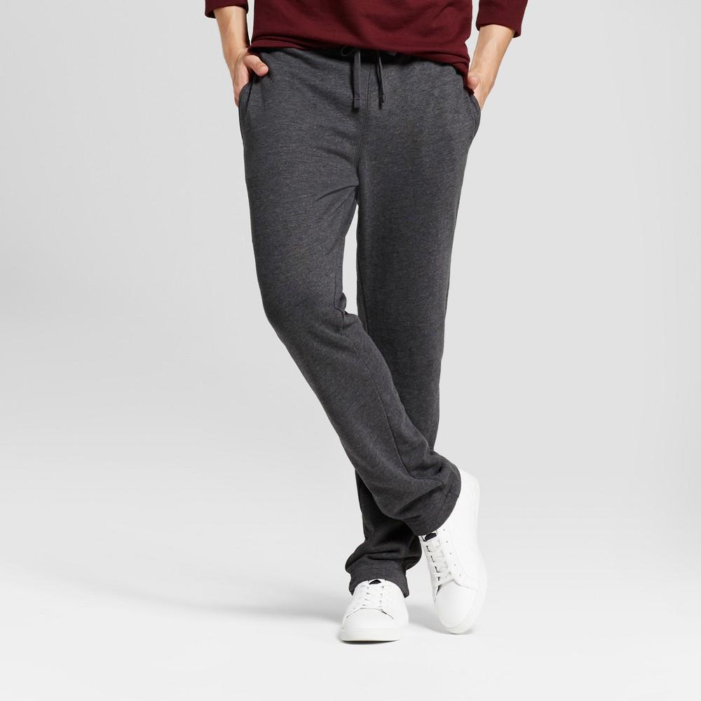 Men's Fleece Pants - Goodfellow & Co Charcoal (Grey) L