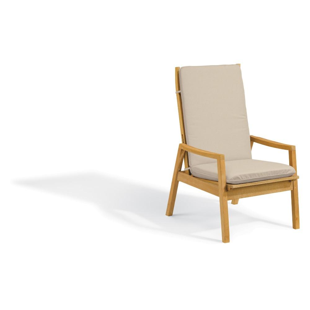 Siena Natural Shorea Reclining Armchair with Polyester Cushion Camel - Oxford Garden