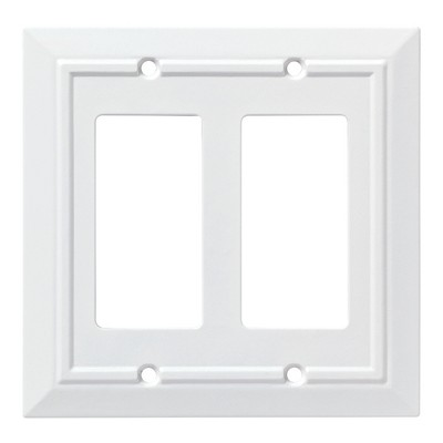 Franklin Brass Classic Architecture Double Decorator Wall Plate White