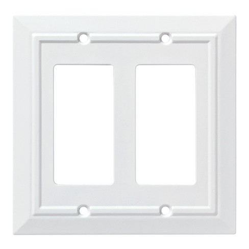 Franklin Brass Classic Architecture Double Decorator Wall Plate White - image 1 of 3
