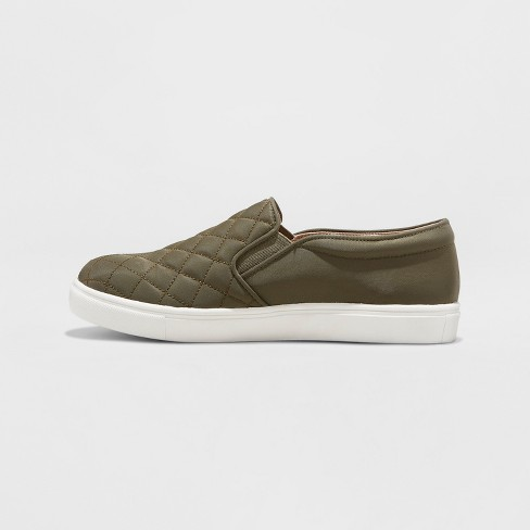 229dfcf1677 Women s Reese Wide Width Quilted Sneakers - A New Day™ Green 6.5W   Target