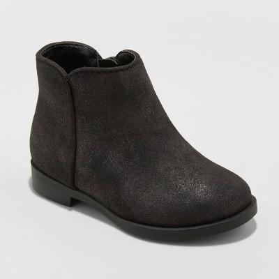 Toddler Girls' Etoile Metallic Ankle Fashion Boots - Cat & Jack™ Black 6