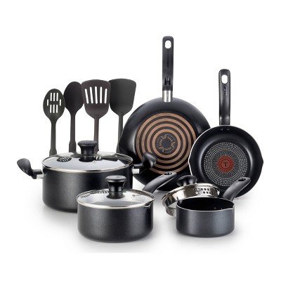 T-fal Simply Cook 12pc Nonstick Cookware Set - Black