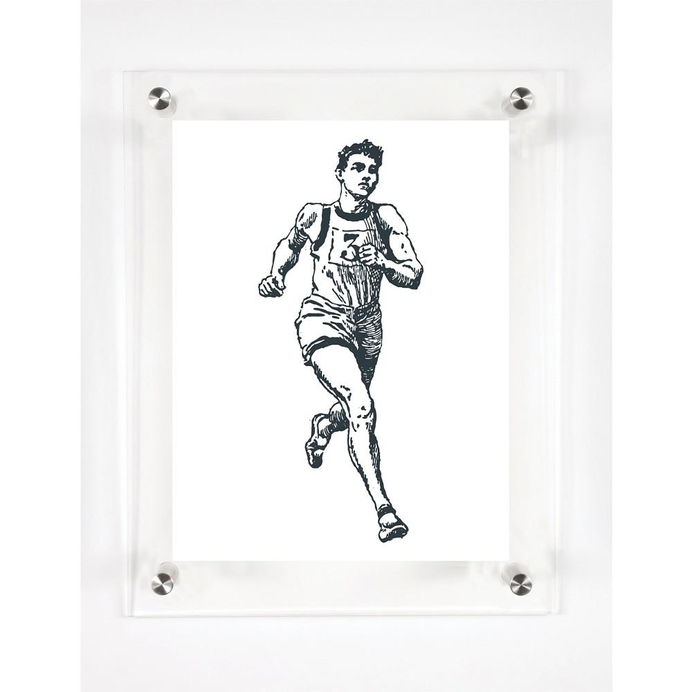 Mitchell Black Runner Endurance Decorative Framed Wall Canvas (12