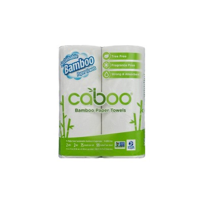 Caboo Bamboo Paper Towels - 2pk