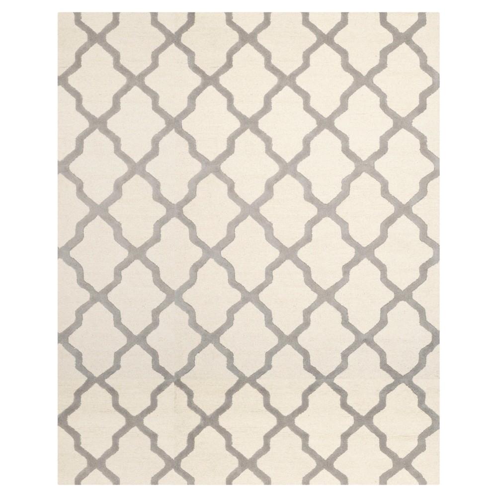 Maison Textured Rug - Ivory / Silver (6'X9') - Safavieh, Ivory/Silver