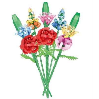 MPM 925Pcs Potted Flowers Building Blocks, DIY Artificial Bouquet Building Bricks Toy Compatible with Lego