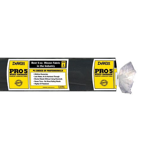 Dewitt P4 4 X 250 Foot 5 Ounce Pro 5 Commercial Landscape Weed Barrier Fabric - image 1 of 2