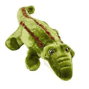 Fluff & Tuff Georgia the Gator, Large Plush Dog Toy with Squeaker