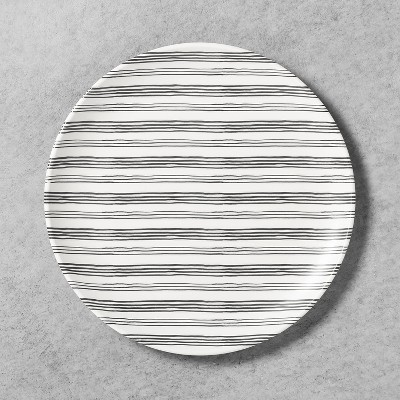 Dinner Plate Melamine Gray Stripe - Hearth & Hand™ with Magnolia